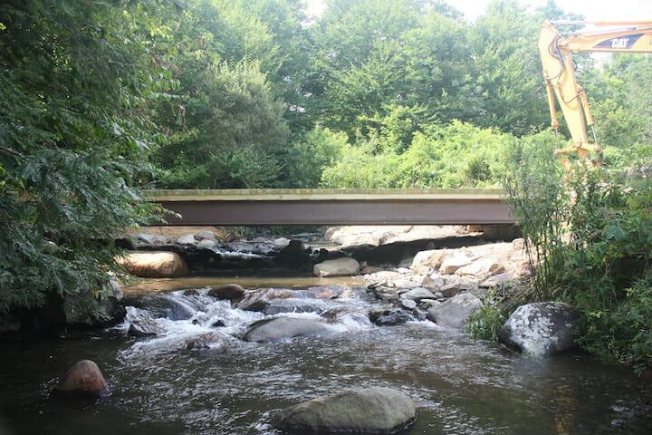 Project opens habitat on NC's Roaring Creek   Trout Unlimited