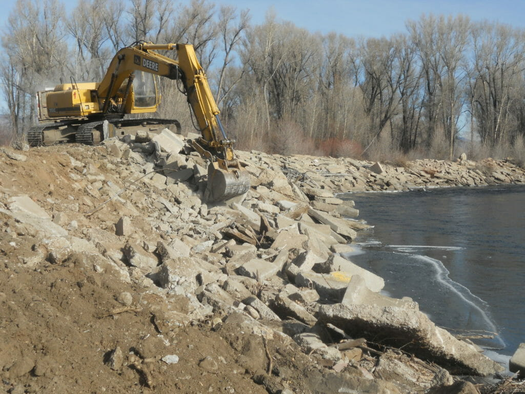 Gunnison River: Concrete Levy Restoration