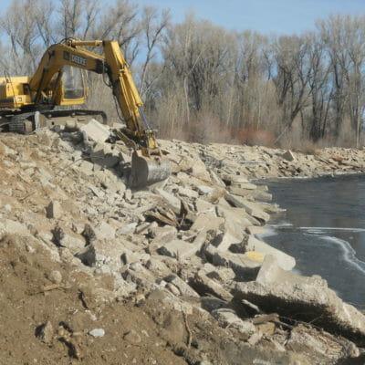 Gunnison River: Concrete Levy Restoration