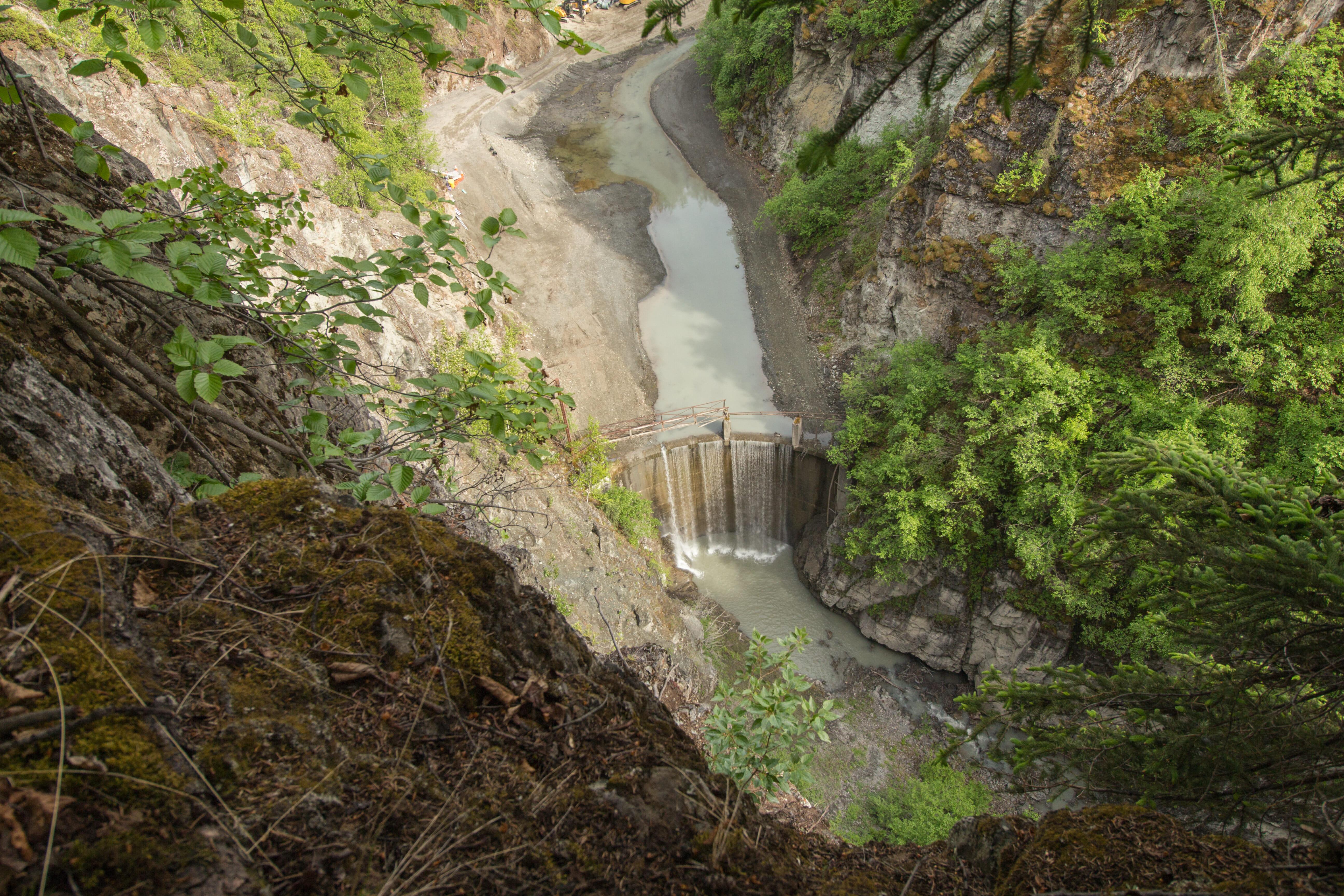 Lower Eklutna Dam before removal