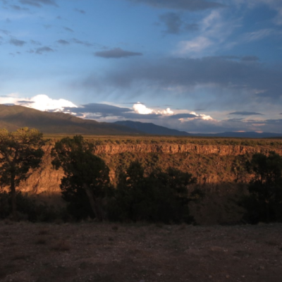 A view of the mountains in New Mexico.