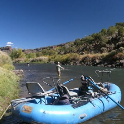 Fly fishing in New Mexico.