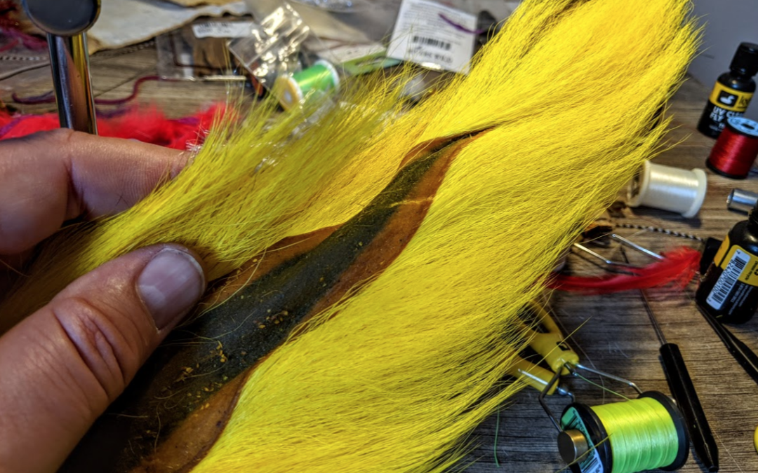 Tying with bucktail