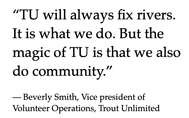 Practicing equity at Trout Unlimited