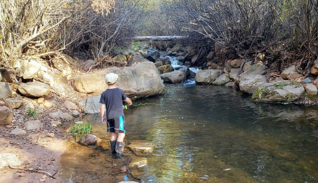 Ease young anglers into fly fishing