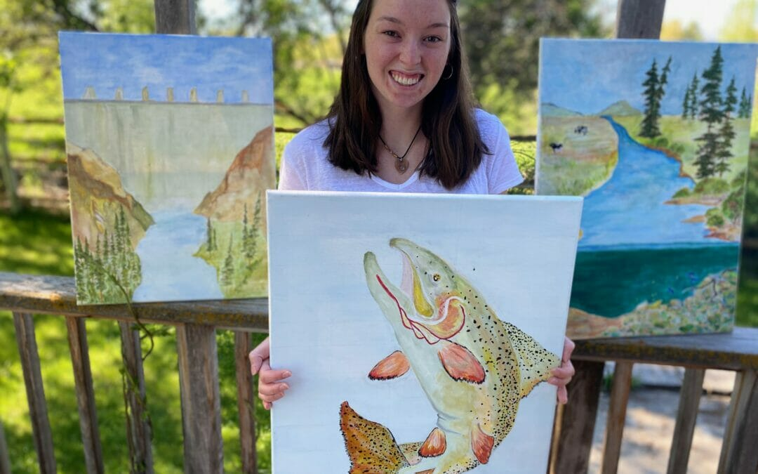 Senior art project focuses on Snake River cutthroat trout
