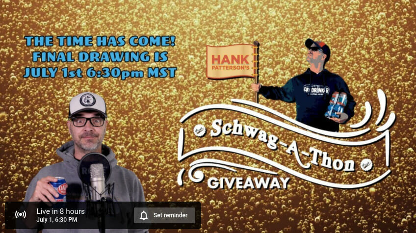 Hank Patterson's Schwag-a-thon giveaway today