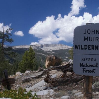 The John Muir Wilderness in California.