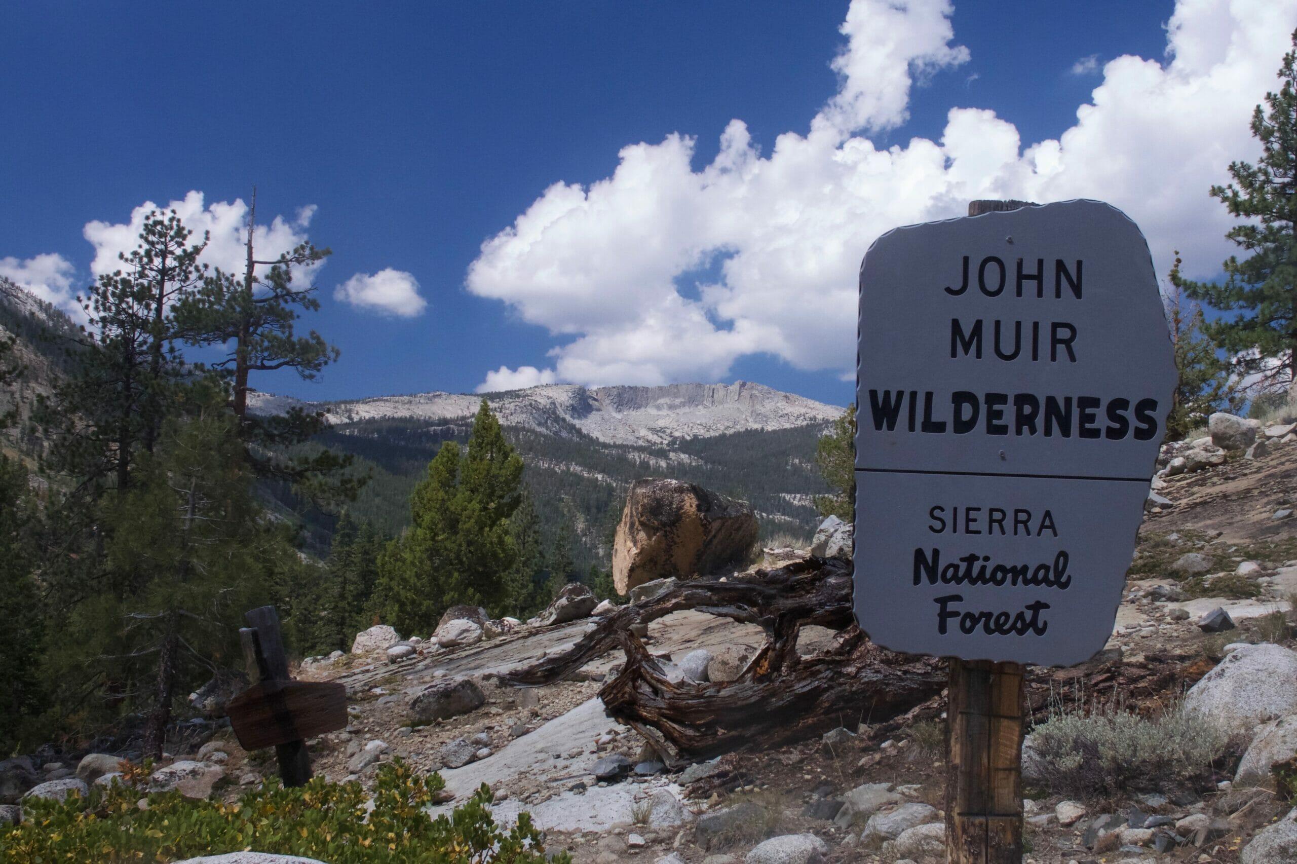 The John Muir Wilderness in California.