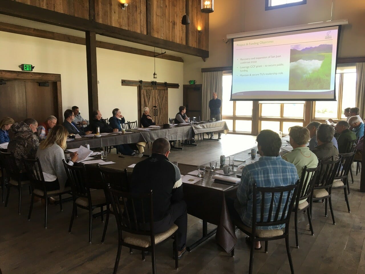 Trout Unlimited's Coldwater Conservation Fund board meeting