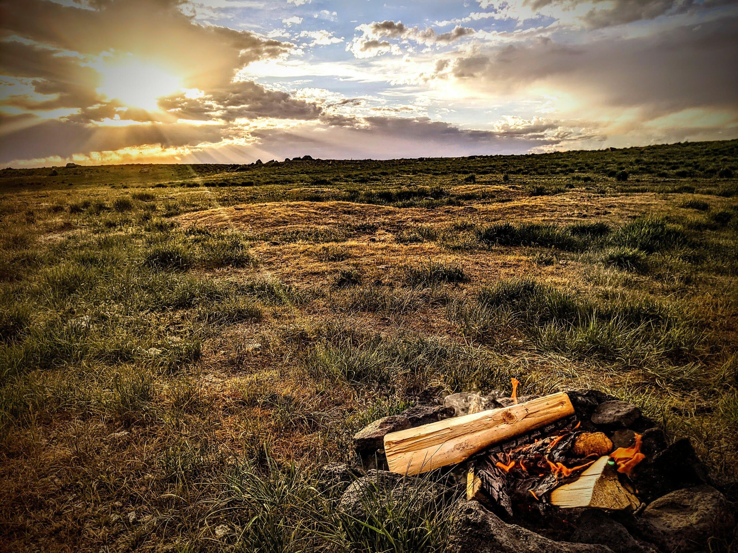 Sunset over the Idaho desert