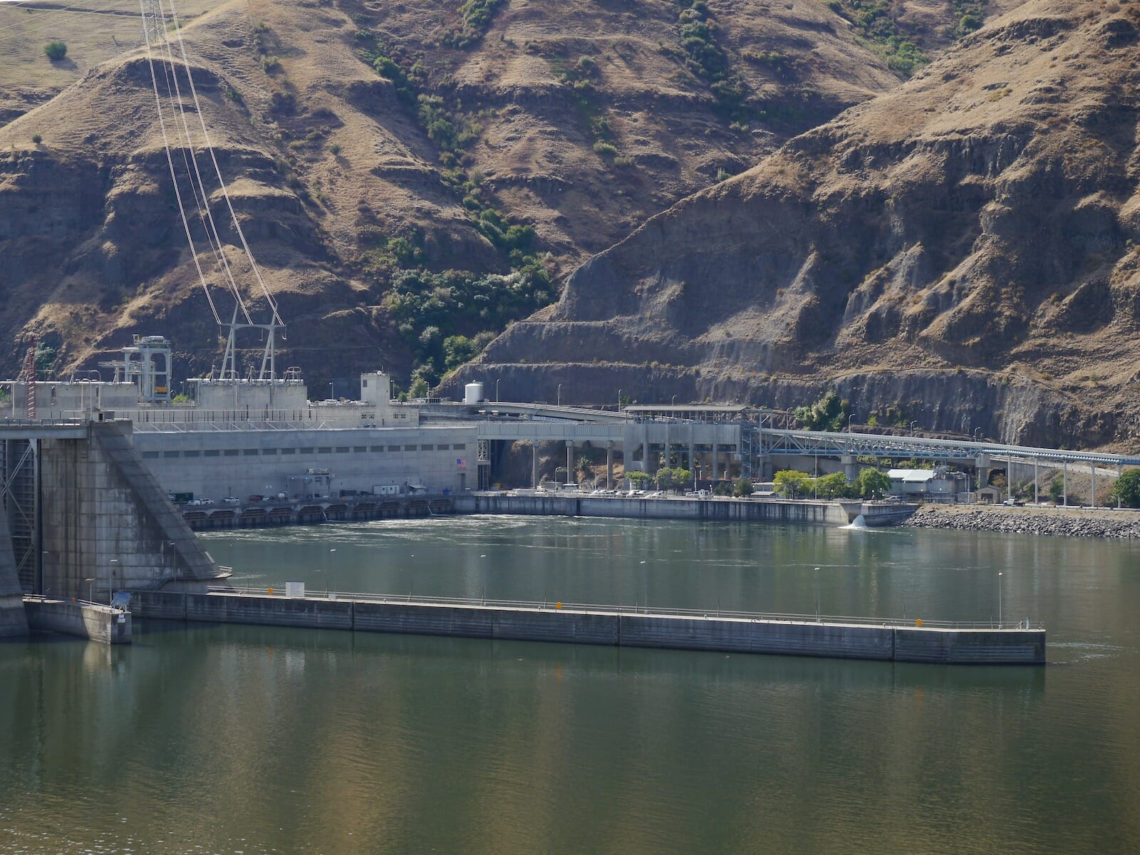 A dam on the lower Snake River in eastern Washington.